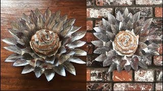 Recycled Soda Can Art Decor - DIY Centerpiece