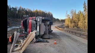 Водитель лесовоза погиб в ДТП на трассе в Усть-Кутском районе