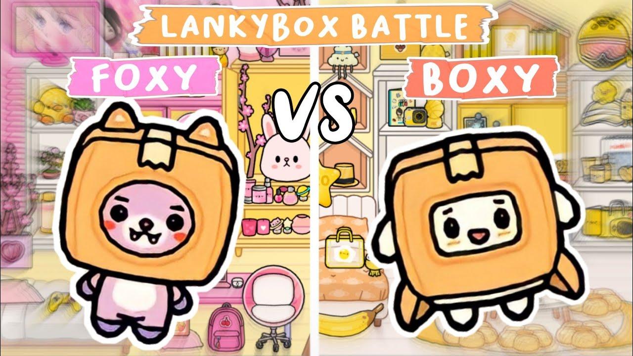 Toca Life World : LankyBox Battle😱 Foxy Vs Boxy | Toca Boca