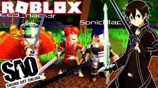 ROBLOX! -NEW SERIES!? SWORD ART ONLINE RPG, RARE ITEMS AND BOSSES-SWORDBURST 2