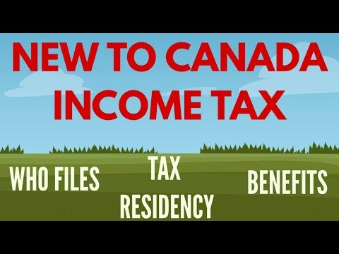 TAX RESIDENCY CANADA - Filing Taxes For The First Time