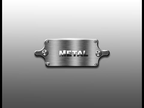 Adobe photoshop | Illustrator Metalic button  Tutorial