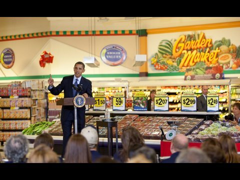 President Obama: Health Reform Town Hall at Kroger in Virginia
