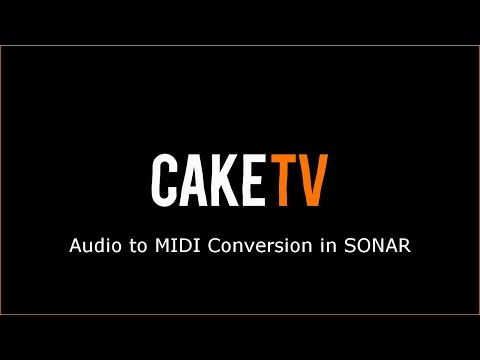 Audio to MIDI Conversion in SONAR