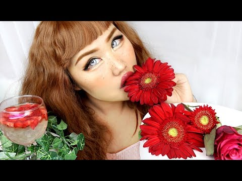Eating Flowers Mukbang / INTENSE ASMR #3