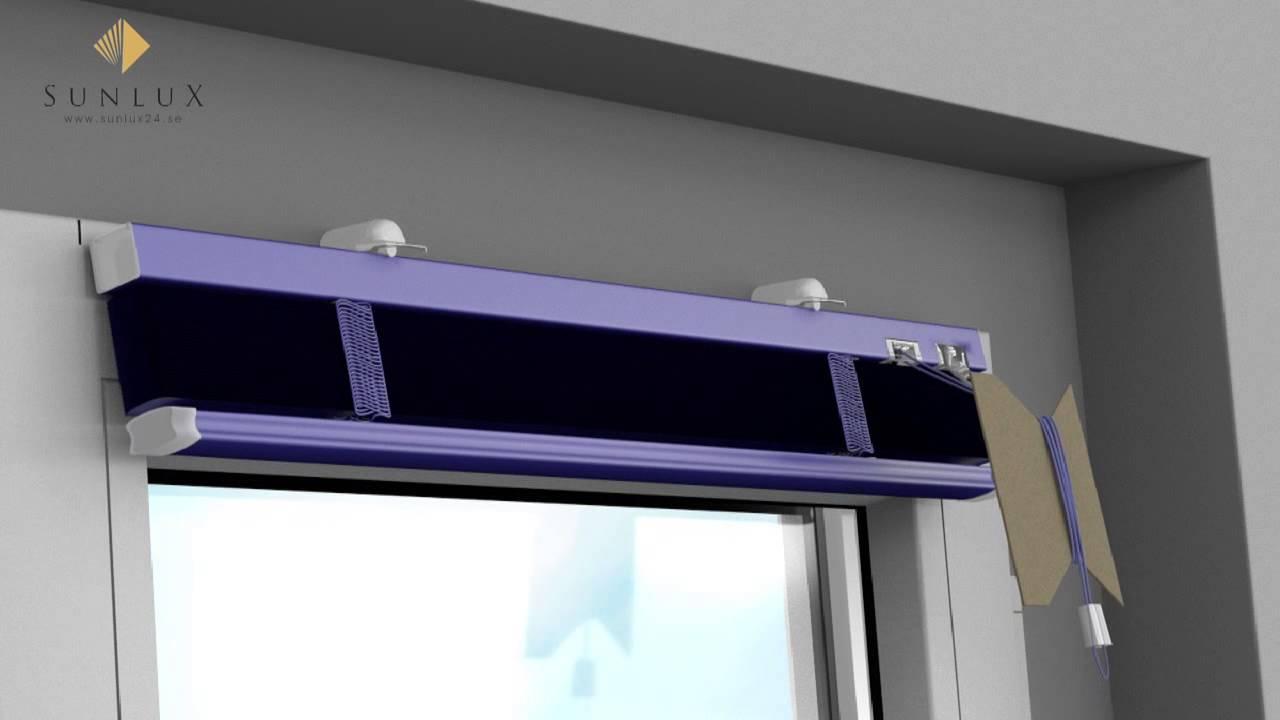 Animation] Persienner - Montering på fönsterram med klämmfästen ...