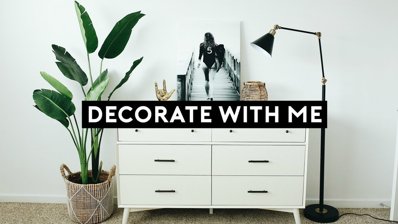 DECORATE MY APARTMENT WITH ME 2019 | Nastazsa - YouTube