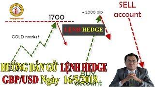 [CHIẾN LƯỢC GIAO DỊCH FOREX ] Hướng Dẫn Gỡ Lệnh Hedge GBP/USD Ngày 16/05/2018 Trong Đầu Tư Forex