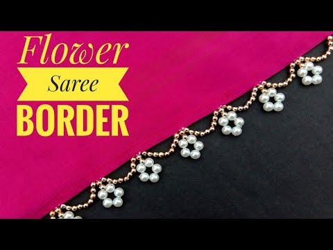 HAND MADE BORDER/For SAREE/BORDER MAKING/ NEW DESIGN/ Useful & Easy