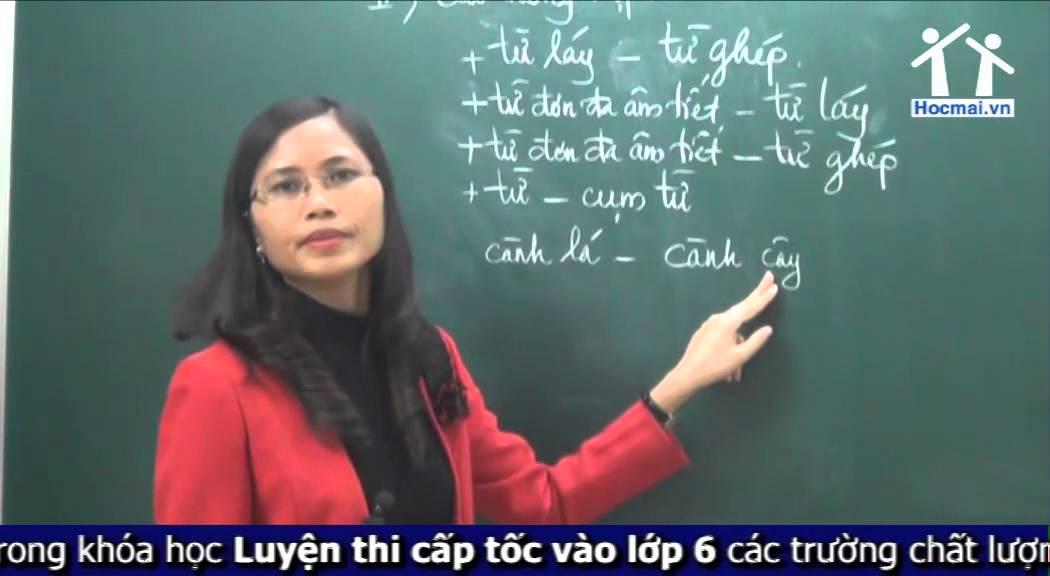 [Hocmai.vn] Cấu tạo từ – Khóa LT cấp tốc vào lớp 6