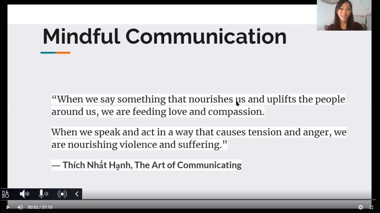 Mindful Communication Webinar