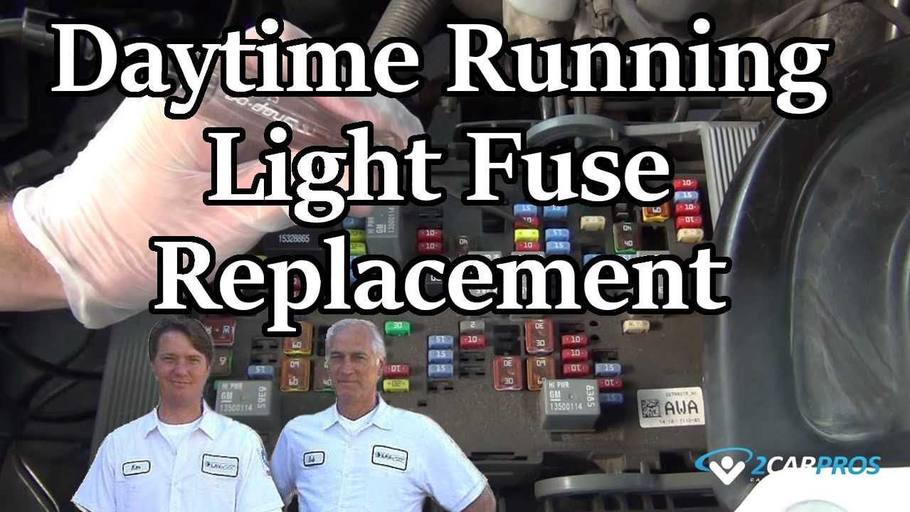 daytime running light fuse replacement youtube