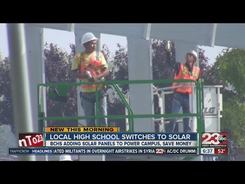 Bakersfield Christian High School switches to solar power to benefit students