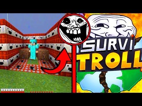 ASI HAN TROLLEADO A MI HIJO... 😭   SurviTroll Ep.68 Minecraft Serie de Mods Troll