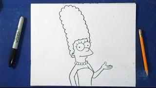 Comment dessiner Marge Simpson - Les Simpsons