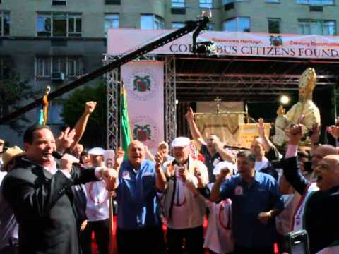 Columbus Day Parade 2013 on Red Carpet with Giglio Society of East Harlem and Sons of San Paolino