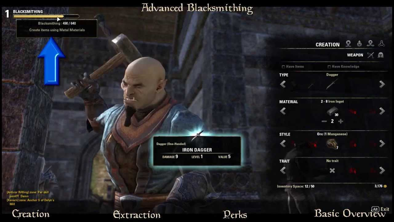 ESO: Best Blacksmithing Guide!!1-50 in 1 hour! fast NO DLC ...