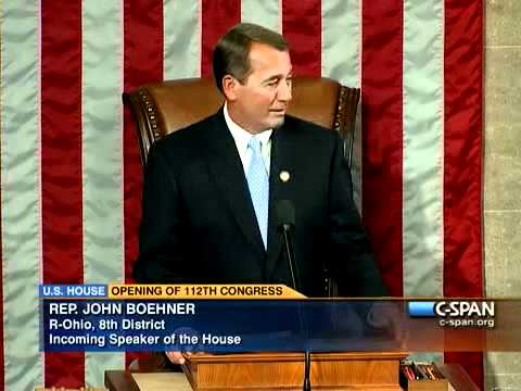 Pelosi & Boehner Address the 112th Congress