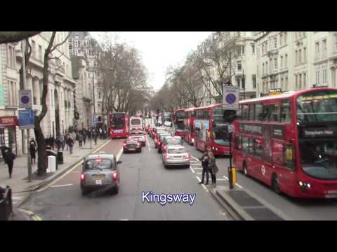 London by bus: Holborn - Kingsway - Strand, 18 March 2017