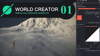 World Creator 2. Navigation, landscape and texture size. Tools.