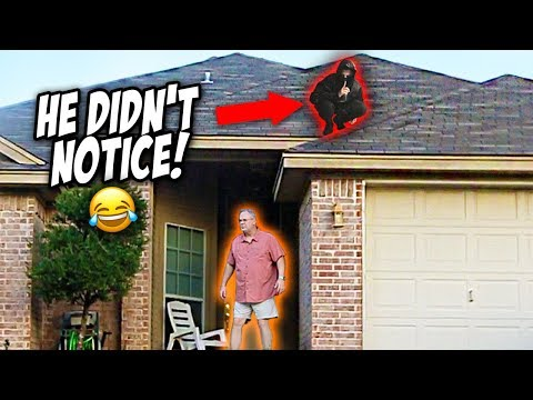 NINJA DING DONG DITCH PRANK! (they Couldn't Find Me)