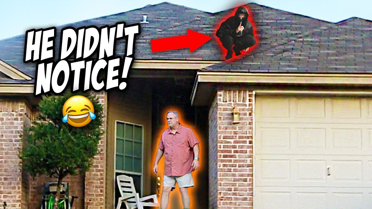 NINJA DING DONG DITCH PRANK! (they couldn't find me) - YouTube