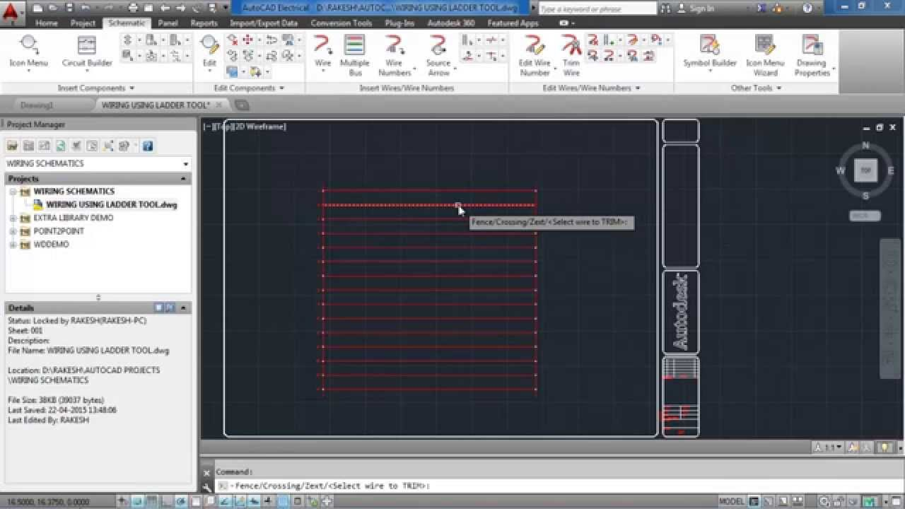 Electrical Wiring Diagram Using Autocad