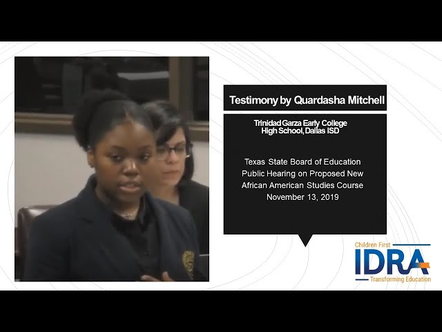 Quardasha Mitchell Testimony for African American Studies 2019