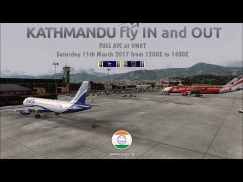 [IVAO India] Audio Extract Kathmandu Fly In 2017 Kathmandu  Approach VNKT_APP