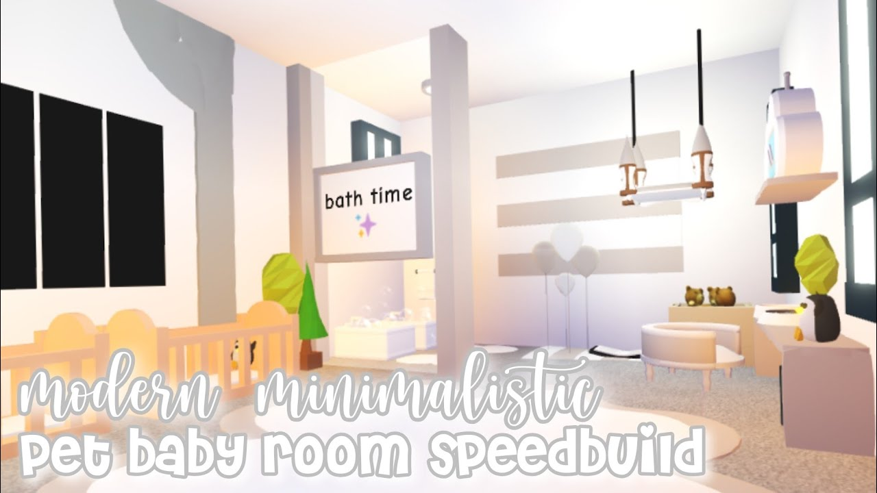 Modern Minimalistic Futuristic House Pet / Baby Room Speed Build! | Roblox Adopt Me - YouTube