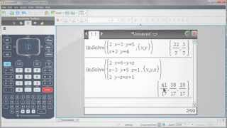 TI-Nspire™ CX Handheld: Systems of Equations