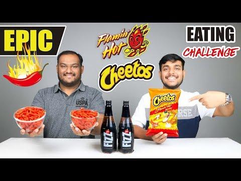 EPIC FLAMIN HOT CHEETOS EATING CHALLENGE | Hot & Spicy Cheetos Eating Competition | Food Challenge