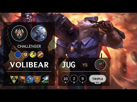 Volibear Jungle vs Graves - EUW Challenger Patch 10.16