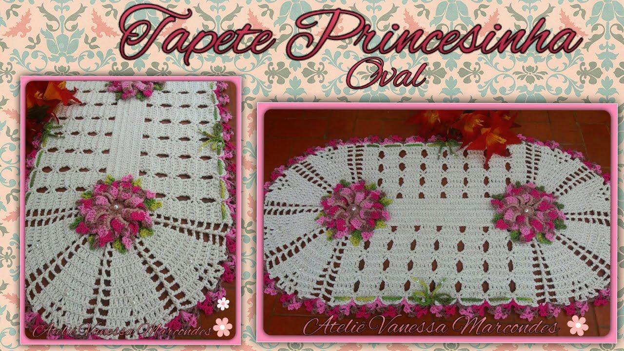 Tapete Princesinha Em Croche Por Vanessa Marcondes By Vanessa  -> Tapete De Barbante Com Luiza De Lugh
