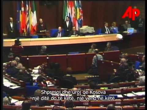 Dr  Ibrahim Rugova Saharov Prize (Albanian subtitles)