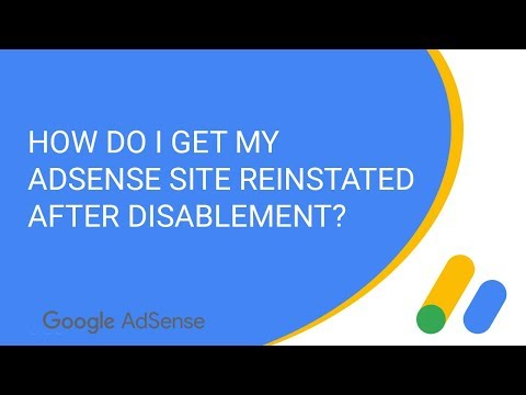 How do I get my AdSense site reinstated after disablement?