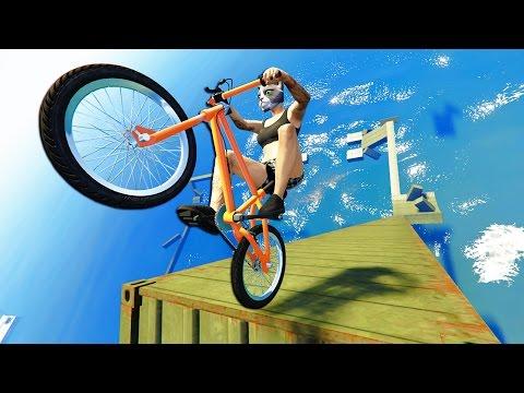 GTA 5 EPiC BMX STUNTS Races #7 (GTA 5 PC Stunts)