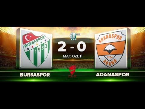 Bursaspor 2 – 0 Adanaspor | ZTK 5. Tur rövanş | Maç Özeti HD | A Spor | 12.12.2017