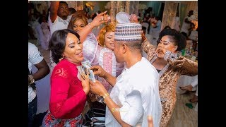 Faithia Saidi Balogun Hold HandsTalksSmile Dance Together At Mercy Aigbe 40th Birthday Party