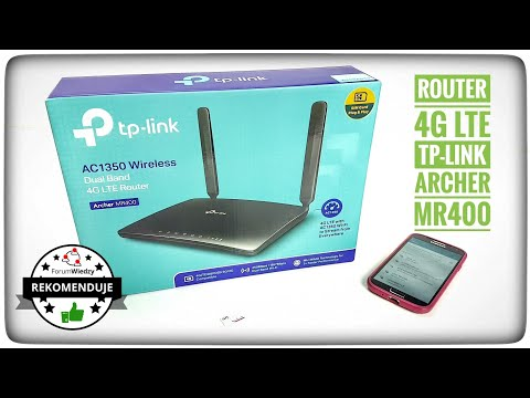 TP-LINK AC1350 Archer MR400 Wireless Dual Band 4G LTE Router