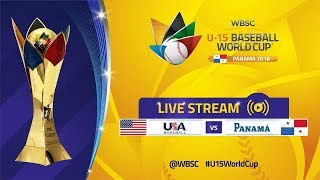 USA v Panama - U-15 Baseball World Cup 2018