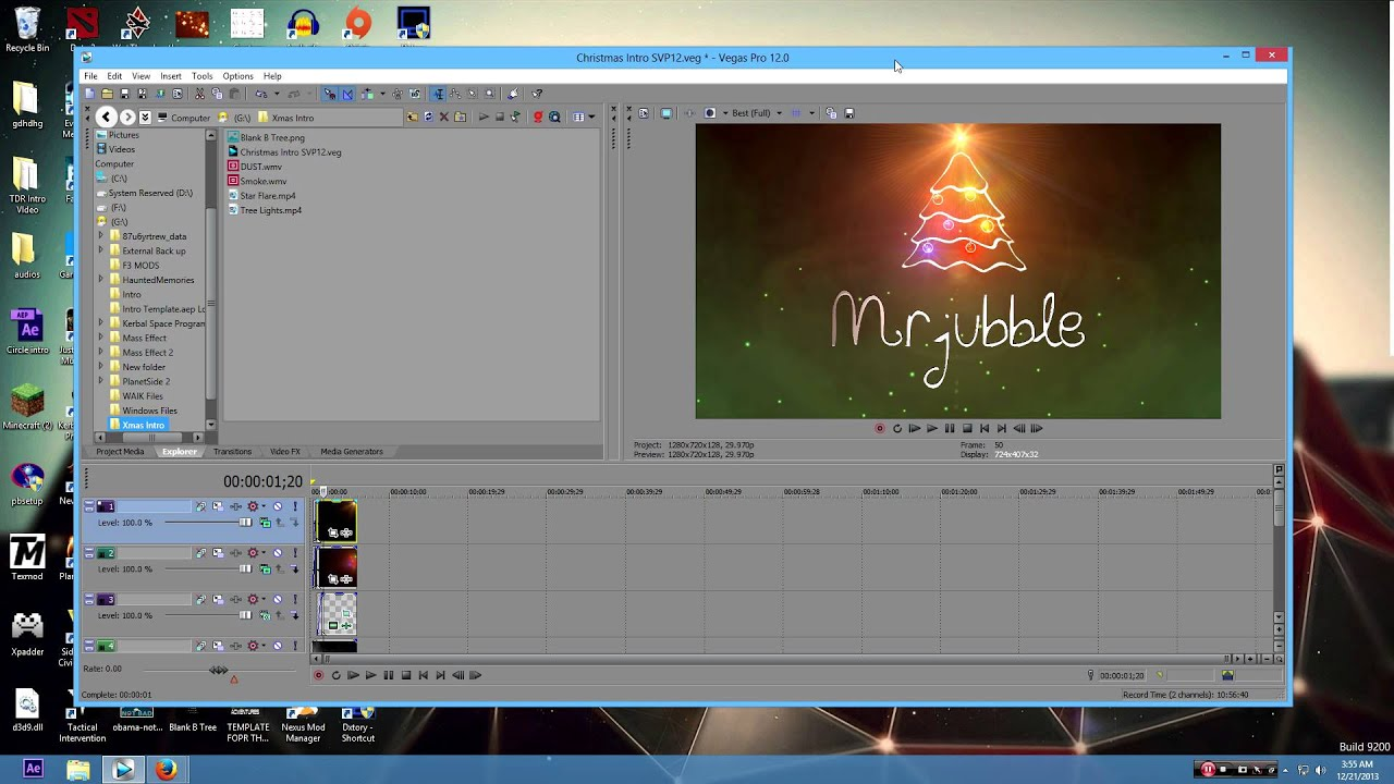 Christmas Xmas Intro Template Sony Vegas Pro 12 - YouTube