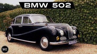 BMW 502 V8 2.6 1963 - Modest test drive - Engine sound | SCC TV