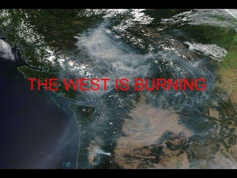 Climate Crisis: Huge fires burn across western N.America