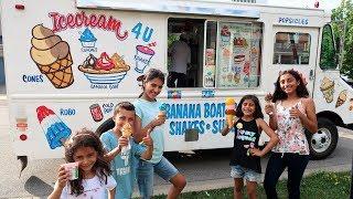 Kids Buy Ice Cream from the Ice Cream Truck Pretend Play Part 2