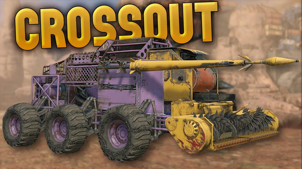 Crossout - Melee Vehicle Builds! - Chameleon Stealth Melee ...