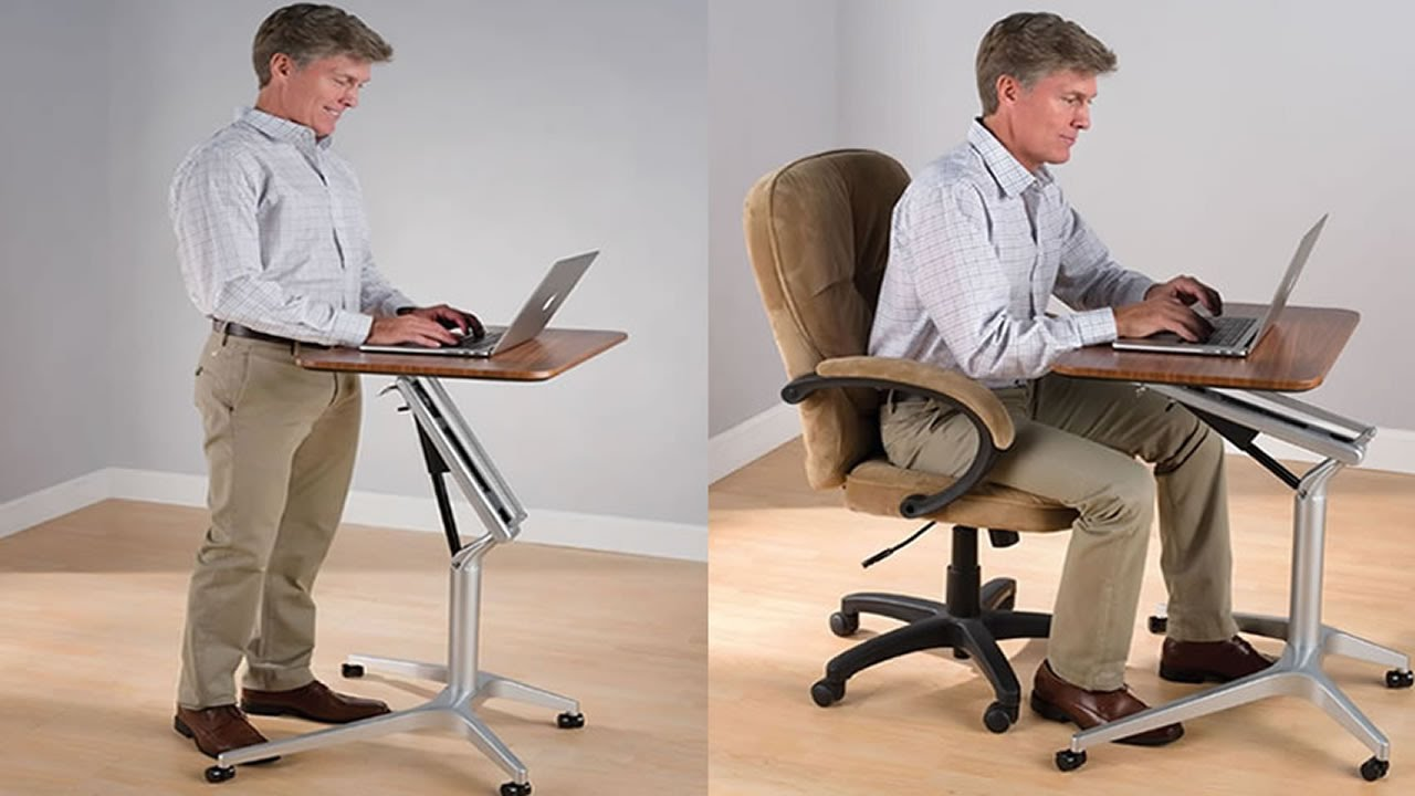 Sit To Stand Workstation Height Adjustable SittingStanding Desk