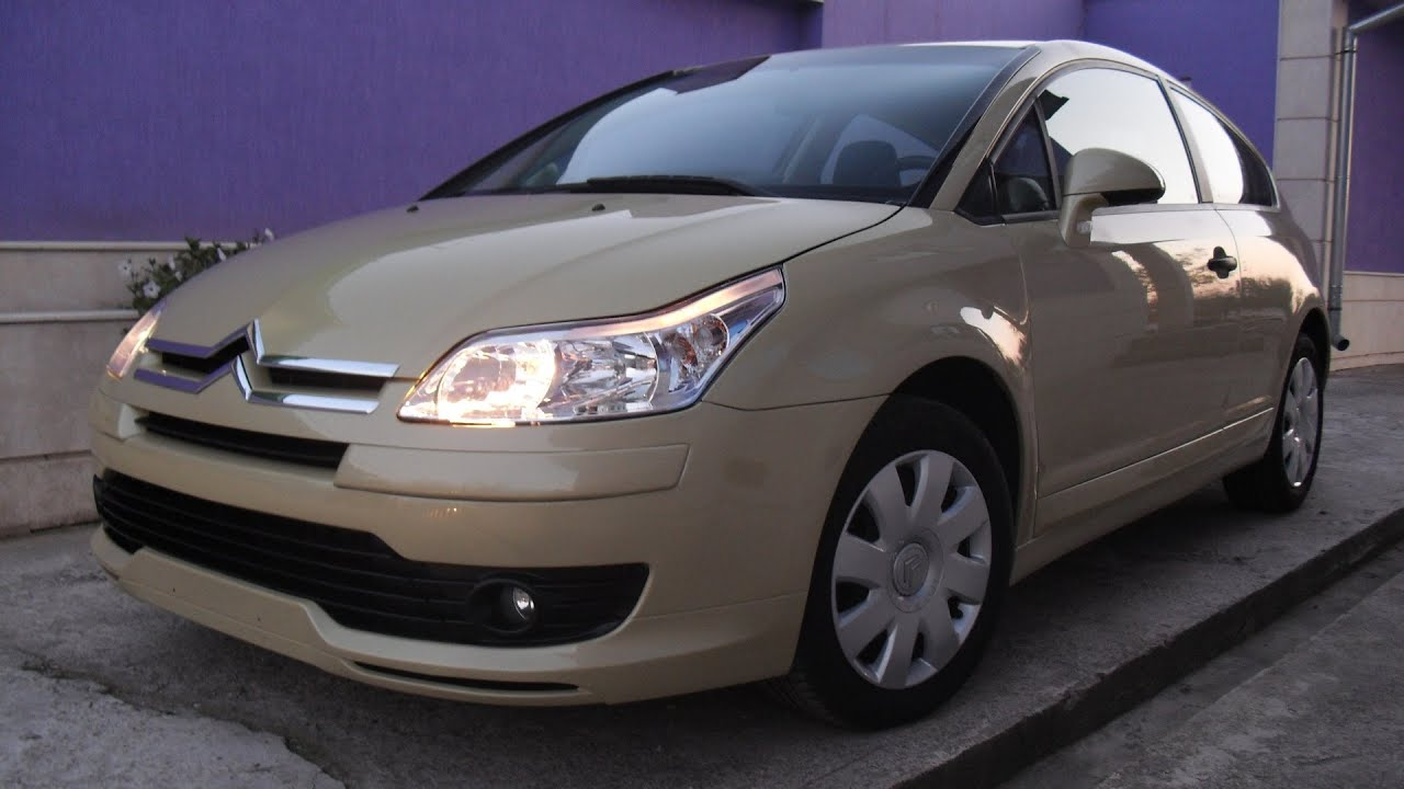 citroen c4 coupe 2door 1 6hdi 2005 youtube. Black Bedroom Furniture Sets. Home Design Ideas