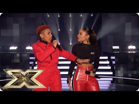 Acacia & Aaliyah sing Blinded By Your Grace/ I Win   Live Shows Week 6   The X Factor UK 2018