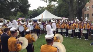 LSU Tiger Band Drums and Tubas Earthquake - 2016 Mississippi State